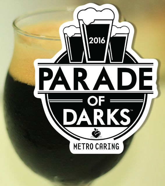 Parade some of their best beers in support of metro caring for the parade of darks 2016 representing with this great black and white custom sticker