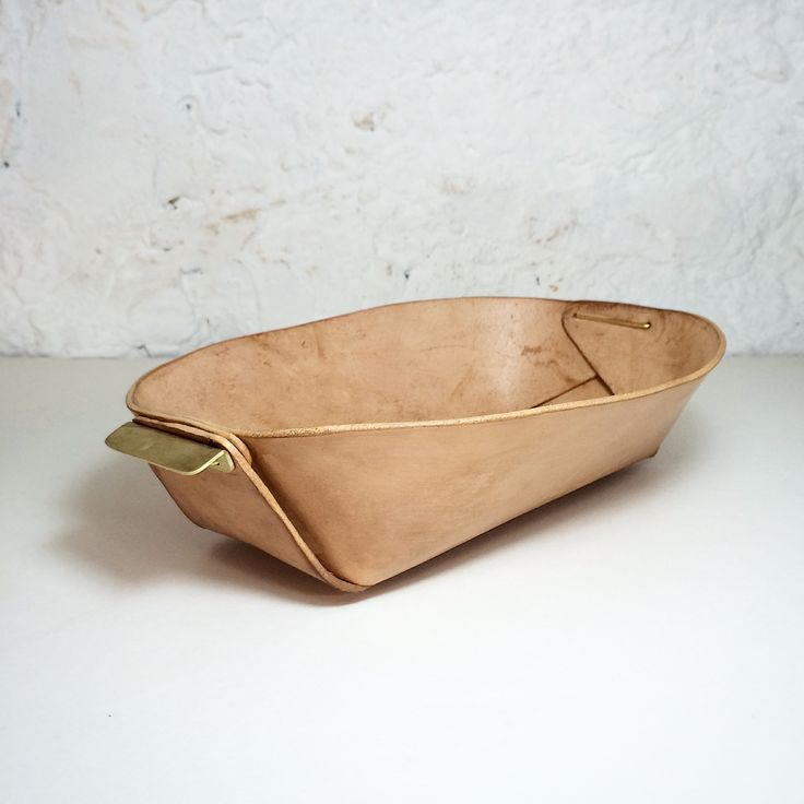 Leather and Brass Bowl