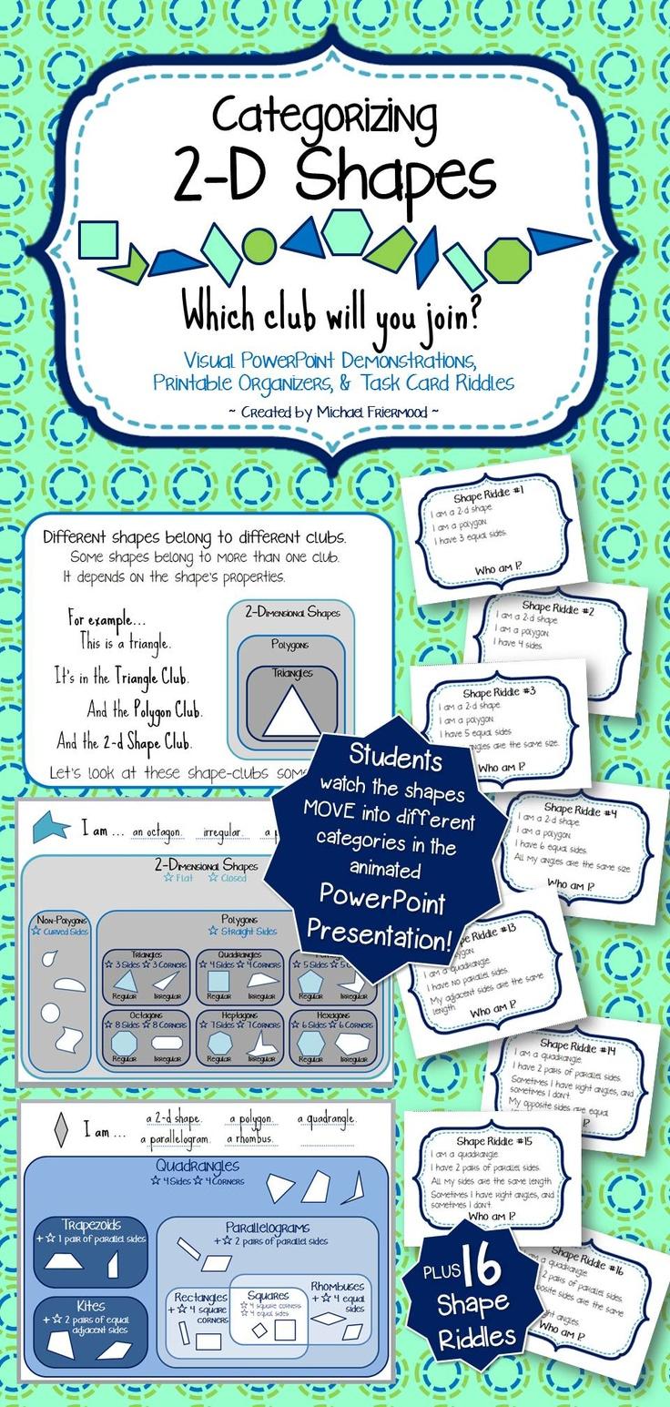 35 best CC Math 2D & 3D Shapes images on Pinterest | Teaching ideas ...