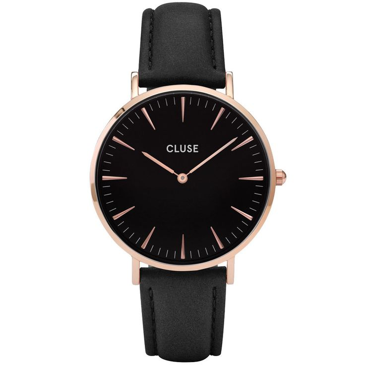 Cluse - Ladies' La Bohème Rose Gold Black/Black Watch CL18001