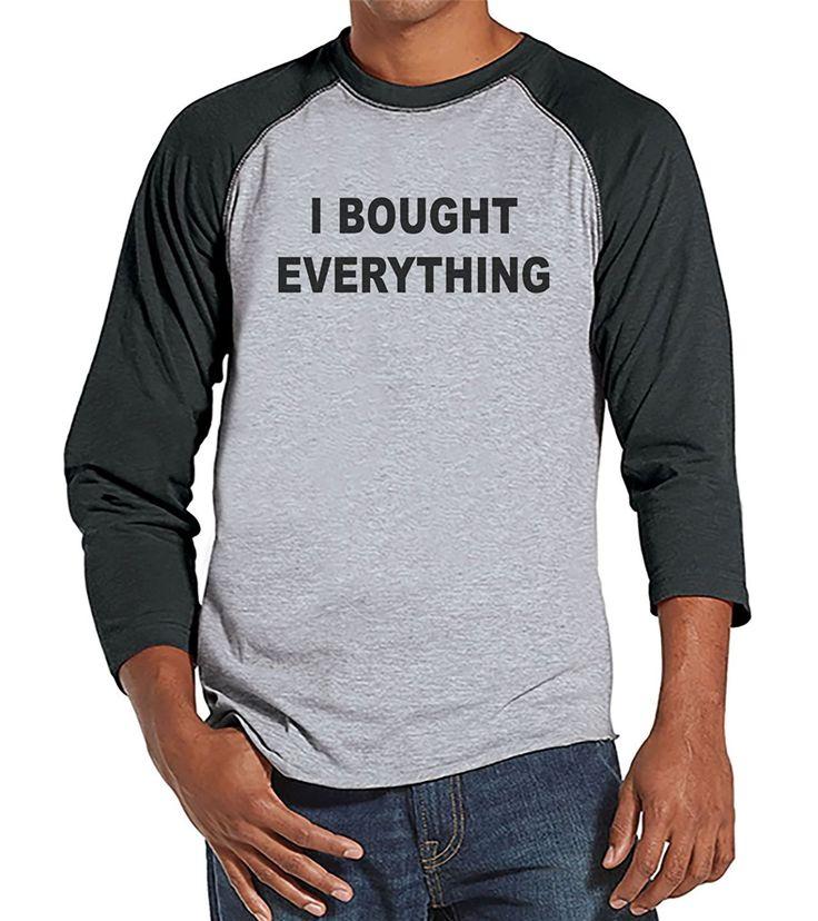 Custom Party Shop Men's I Bought Everything Black Friday Raglan