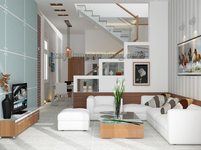 Thiết kế nhà phố 1 trệt 1 lầu đẹp Chị Nhung - Q Thủ Đức