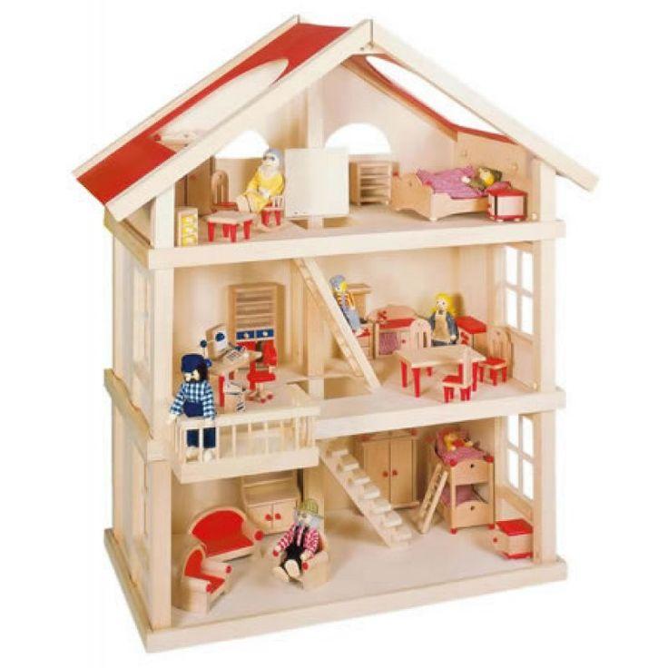 GOKI Puppenhaus mit 3 Etagen
