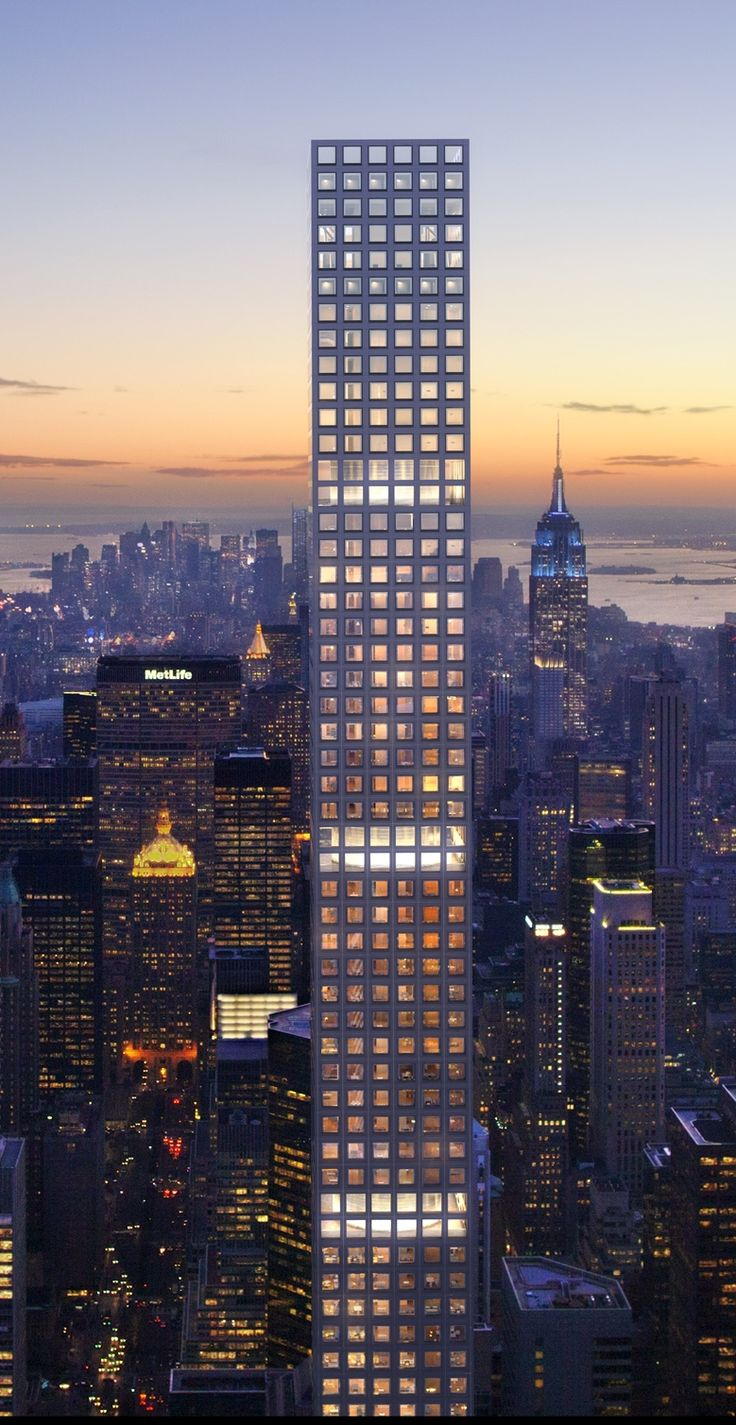rafael vinoly's 432 park avenue, NYC, will be the tallest building in the western hemisphere when finished next year