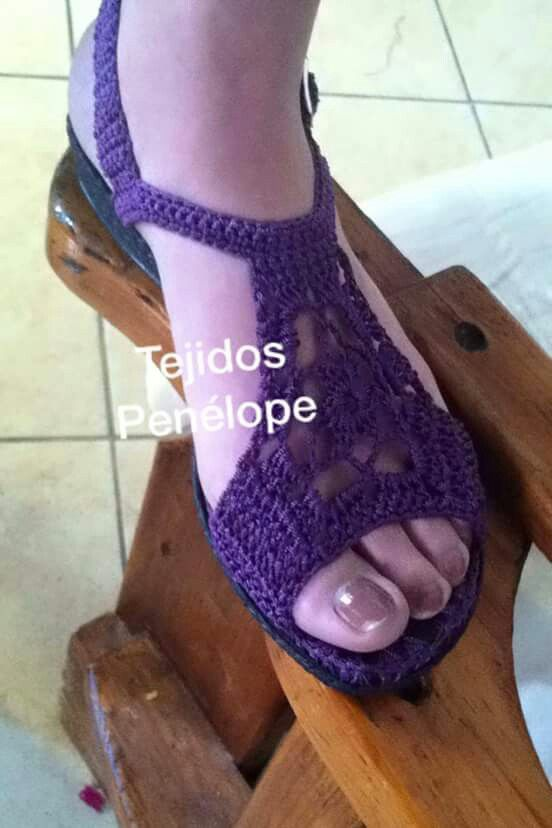 sandalias a crochet