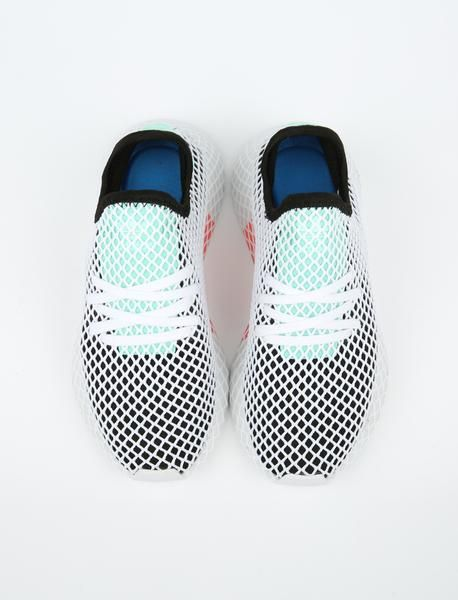 8a9f490652c2d4 Adidas Deerupt Runner - Core Black Easy Green Ftwr White