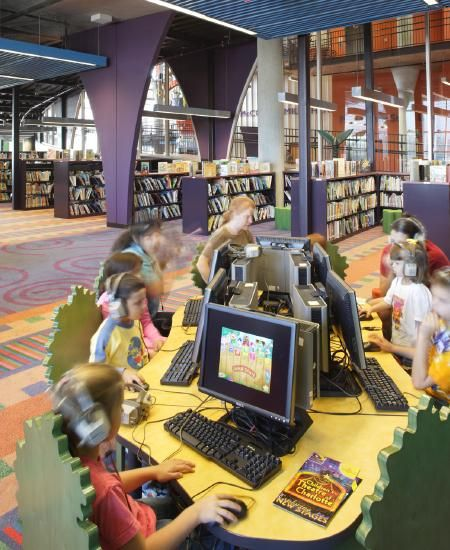 ImaginOn in Charlotte, NC, was named #1 Children's Library by Livability.com - designed by Gantt Huberman Architects and Holzman Moss Bottino Architecture