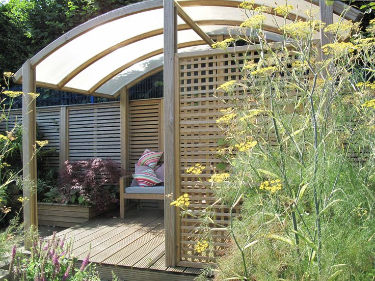 Garden Screen Designs railway sleeper screen google search Trellis Fencing Used In Front Of The Zone Shelter As A Screen Garden