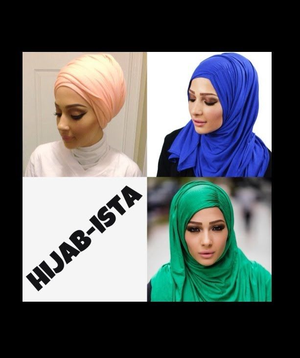 3 Different Hijab Tutorials Feat. Hijab-ista's Maxi Jersey Hijab's !:)