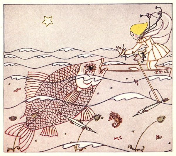 Illustration by Tom Seidmann-Freud, Freud's cross-dressing niece, from a philosophical 1922 children's book about dreams