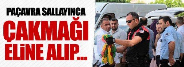 Polis, Adana'da PKK paçavrasını yaktı