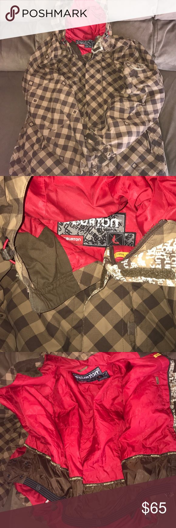 Men's Burton Snow Boarding Coat Size Large Great condition. No holes or stains. Snow skirt, and everything you need for a day out on the mountain. Fits true to size large in men. Price firm unless bundled. No trades or Mercari. Lowest offer is the price listed. Burton Jackets & Coats Ski & Snowboard