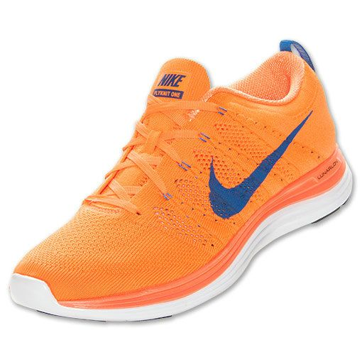 lowest price 8423f 33fe5 Mens Nike Flyknit Lunar 1 Total Orange Game Royal White 554887 841
