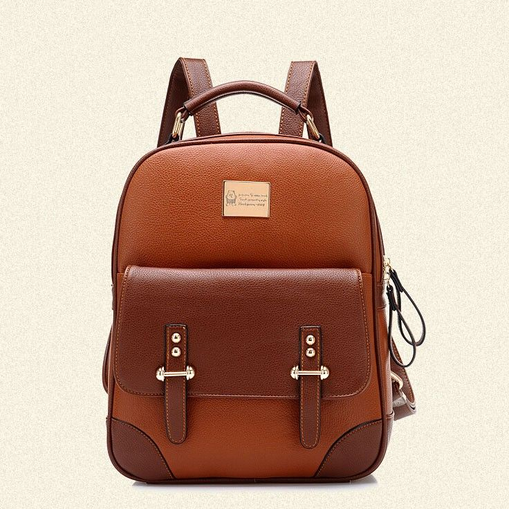New British Style Vintage Leather Backpack|Fashion Backpacks - Fashion Bags - ByGoods.com