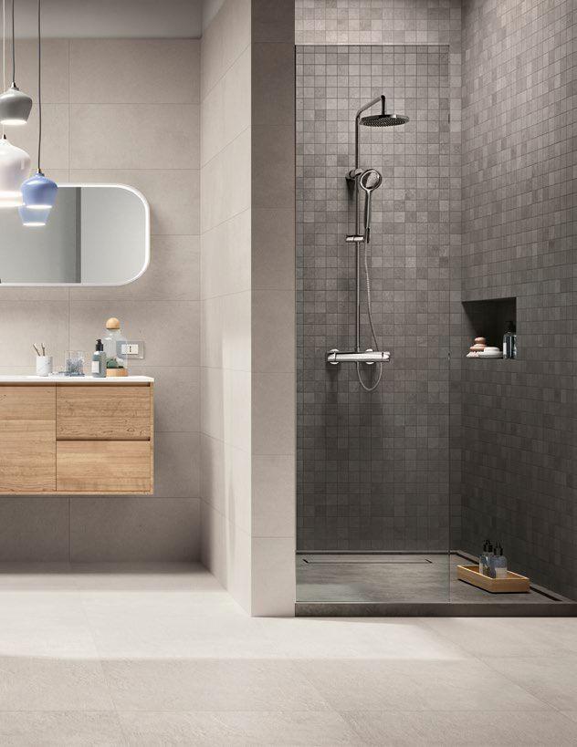 Ragno Studio Ghiaccio 60x60 Cm R4pu Bathroom Interior