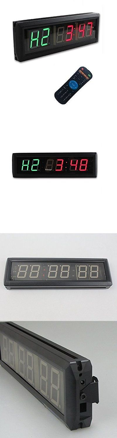 Stopwatches 166149: Green Led Countdown Interval Wall Clock For Garage Tabata Crossfit Emom New -> BUY IT NOW ONLY: $115.54 on eBay!