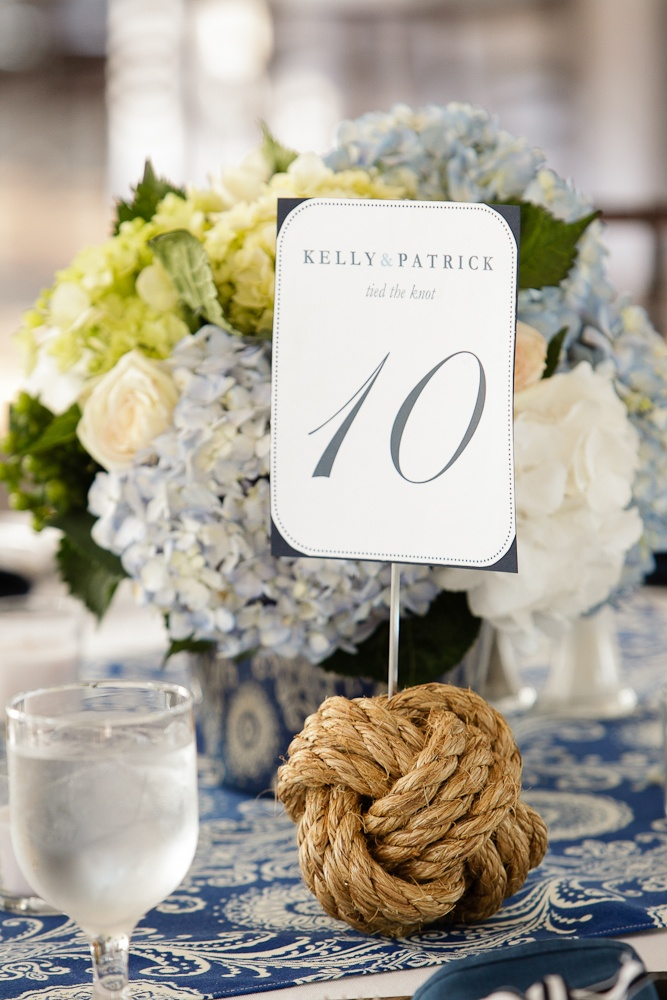 nautical centerpiece and table number by bella co www