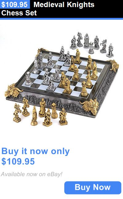 Home Decor: Medieval Knights Chess Set BUY IT NOW ONLY: $109.95
