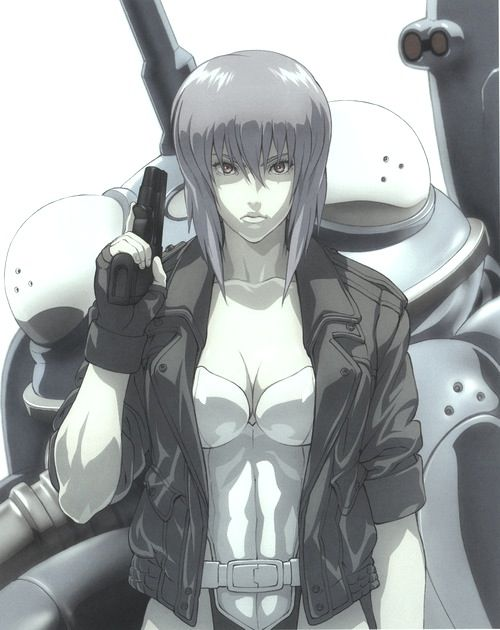 Ghost in the Shell (DVD for art: http://www.amazon.com/Ghost-Shell-Complex-Complete-Collection/dp/B001D265RQ)