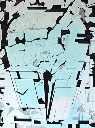 Apocalypsis. Acrylic and ink on canvas, 200x150 cm - - - - - - - - - Britta Westhausen