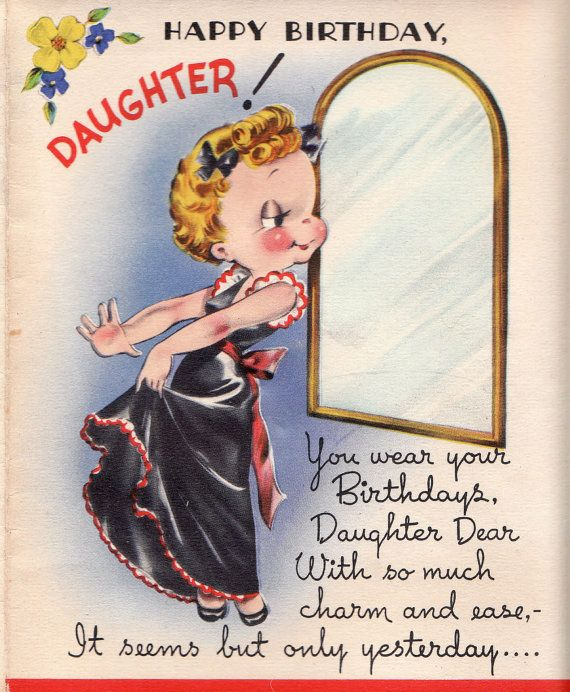 230 best vintage greeting cards images on pinterest vintage cards happy birthday to a stylish dear daughter find this pin and more on vintage greeting cards m4hsunfo