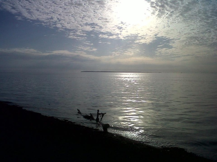 Blaine, WA - Semiahmoo Spit at dusk in May. Quite near White Rock, BC (Canada).