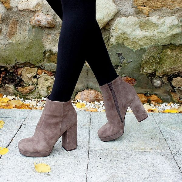 taupe ankle booties fashion