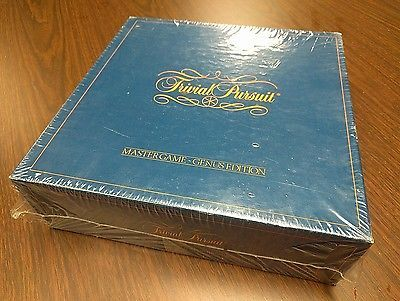 Vintage 1981 No.7 Trivial Pursuit Master Game Genus Edition NEW Factory Sealed