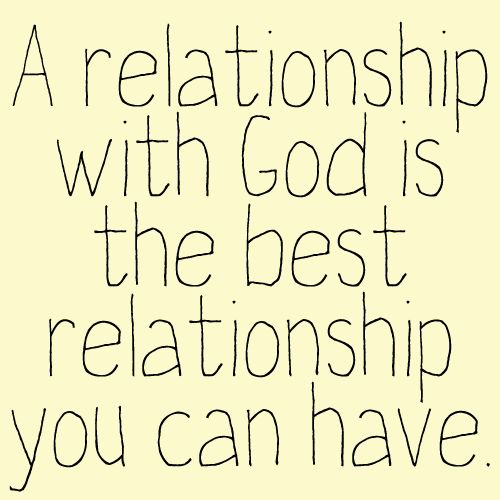 The most important relationship.