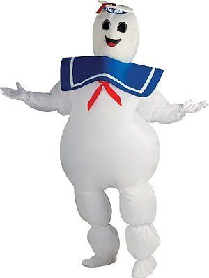 Adult Ghostbusters Costume Inflatable Puft Marshmallow Man