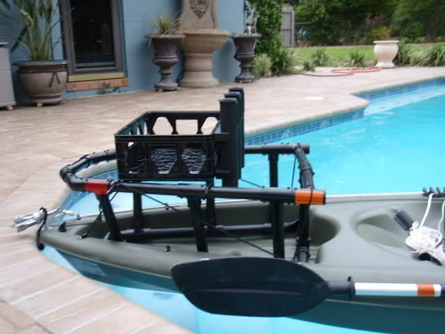 Awesome ready for night fishing kayak rigging by http for Cool fishing boat accessories