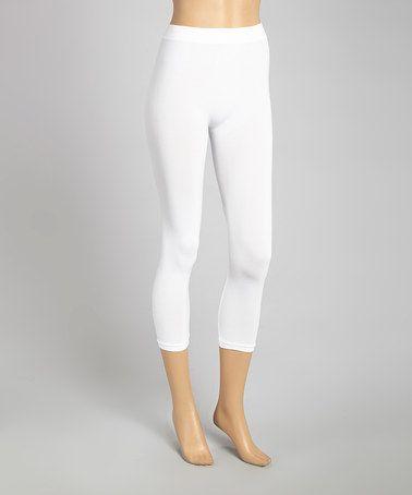 Love this White Capri Leggings - Women on #zulily! #zulilyfinds