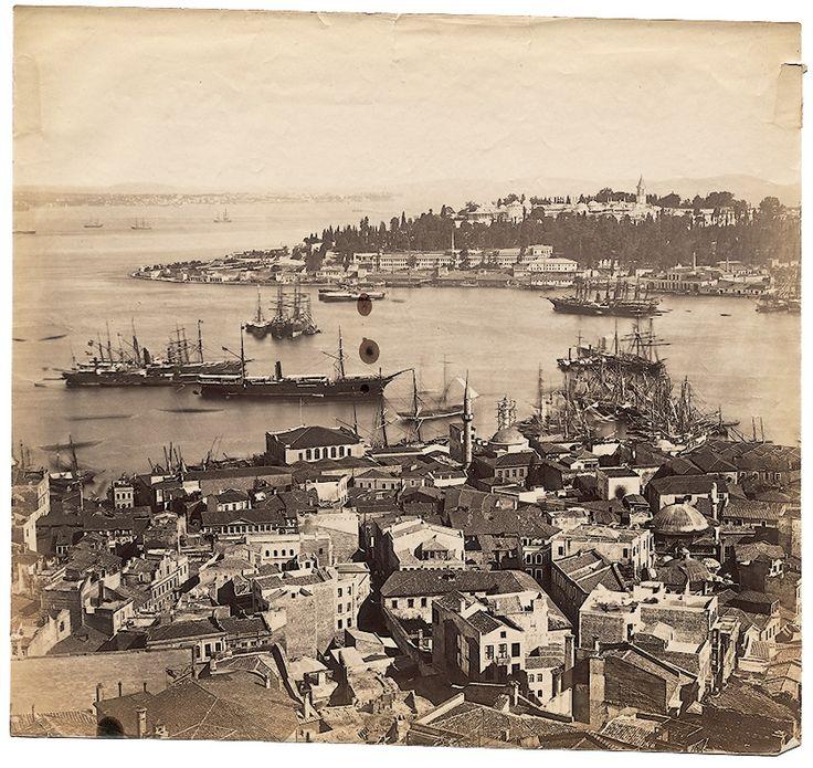 Galata Kulesi'nden Panorama - 5 Basile Kargopoulo, 1870'ler
