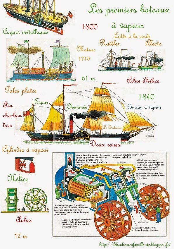 Le bonheur en famille: L'histoire des bateaux 5, les bateaux à vapeur...