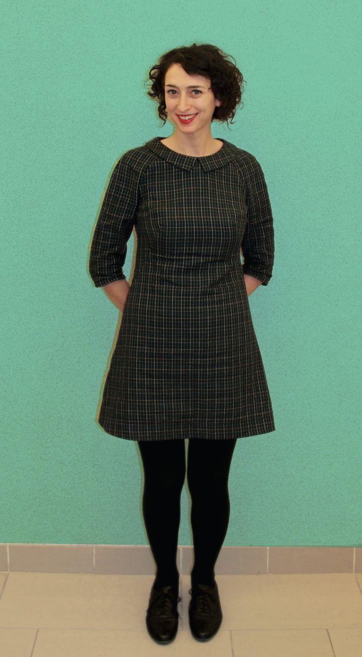 Inbar's plaid Francoise dress