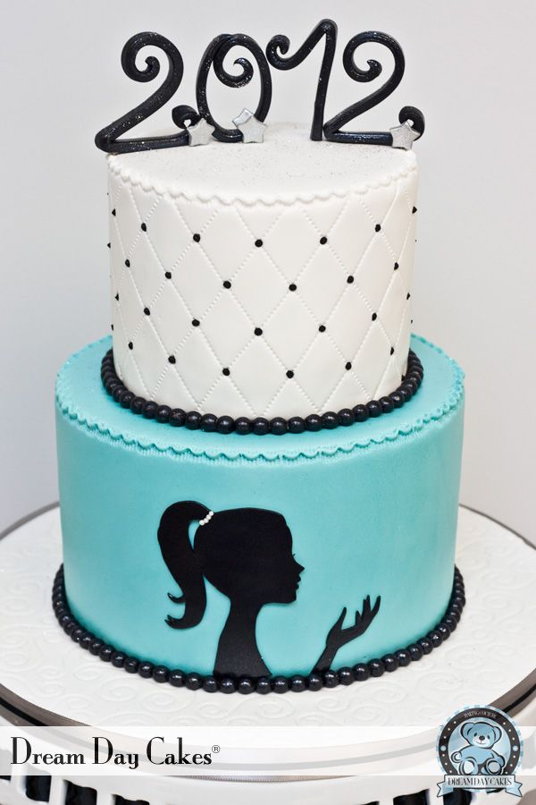 turquoise baby shower | Turquoise Silhouette Birthday Cake. Gainesville. | Dream Day Cakes