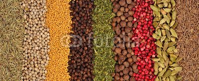 Background of different spices