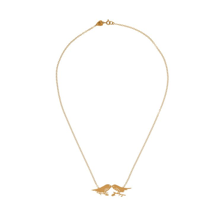 Each Kiss Necklace - Rose Gold - £275