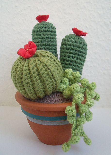crochet: cactus amigurumi, pattern by MaryJ Handmade and Donatella Saralli