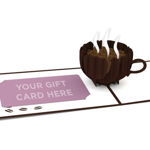 Small Coffee Cup Pop Up Gift Card Holder Card - Lovepop