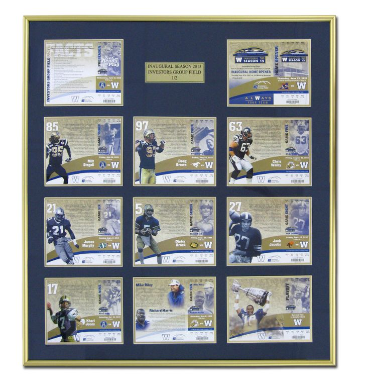 Winnipeg Blue Bombers | Examples | Custom Framing | Pictures Frames and More