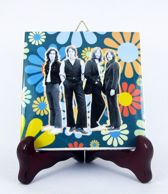 The Beatles Ceramic Tile  Handmade from Italy  by TerryTiles2014
