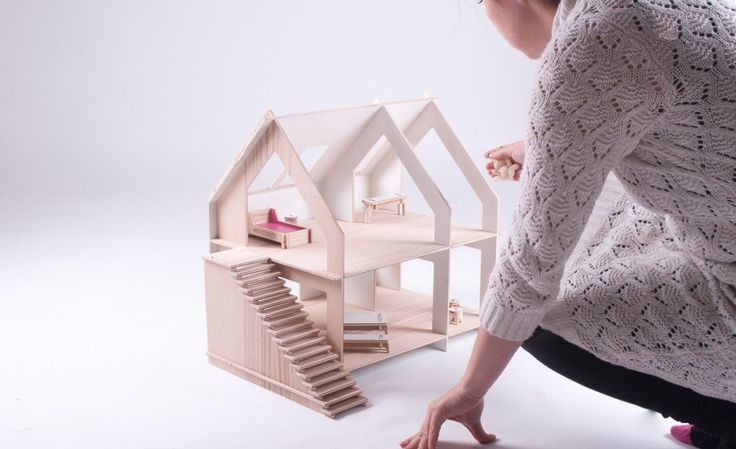 DOMEK czwarty, domek dla lalek | TAMIDO | modern dollhouse