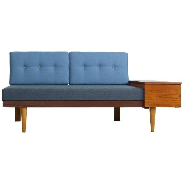 1950s Scandinavian Teak Beechwood Daybed Extendable Svane Mobler Norway Sofa Mid Century Modern Daybed Teak Sofa