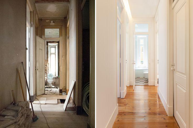 #refurbishment #before&after #corridor #targa #atelier