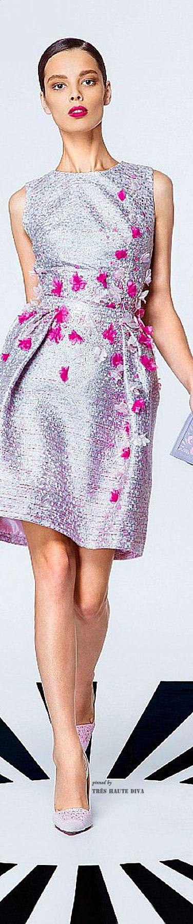 Georges Hobeika Spring Summer 2015 ♔ Lavender Cocktail Dress