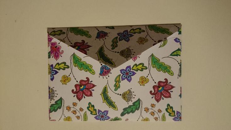 Flowers on an envelope