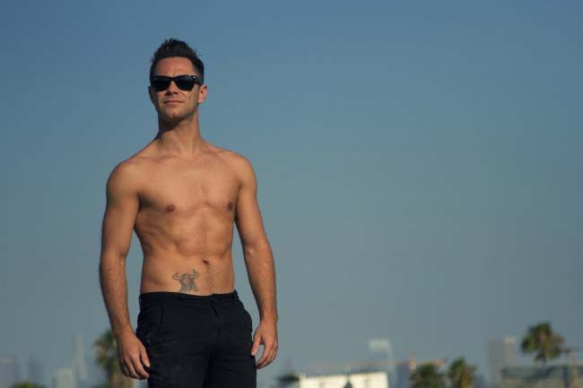 Sasha Farber shirtless shows off ripped torso in a photoshoot done in 2014...