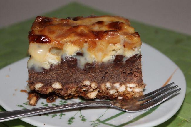 Czekoladowe ciasto z karmelowo – mlecznym wierzchem - W kuchennym raju