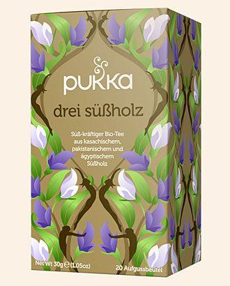 Drei Süßholz Pukka Tee Bio, 20 Teebeutel